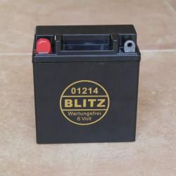 Gelbatterie BLITZ 6 V 11.5 Ah schwarz wartungsfrei