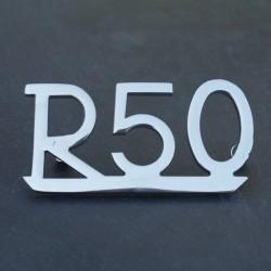 """Anagrama """" R 50"""" guardabarros trasero"""