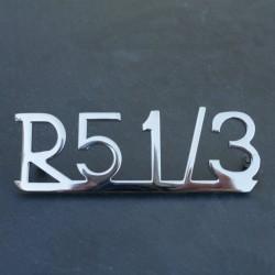 """Anagrama """" R 51/3"""" guardabarros trasero"""