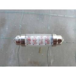 LED tipo Sofite rojo 6 V 10 x 42 para luz de freno