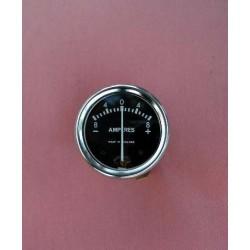 Amperemetro esfera negra 6V 1.3/4 pulgadas