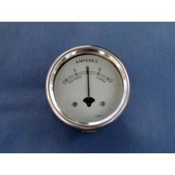 Amperemetro esfera blanca 6V 2 pulgadas