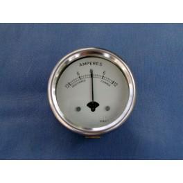 Amperemeter 6V weiss 2 Zoll