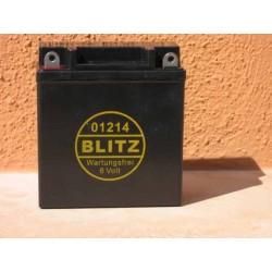 Gelbatterie BLITZ 6V BMW R 26/27 schwarz wartungsfrei