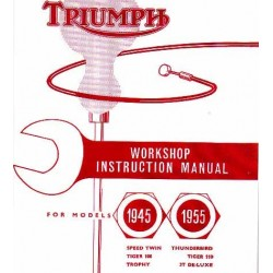Workshop instruction manual TRIUMPH modelos 1945 - 1955