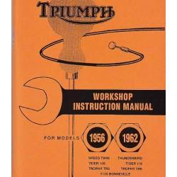 Werkstatthandbuch TRIUMPH Modelle 1956 - 1962
