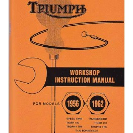 Workshop instruction manual TRIUMPH modelos 1956 - 1962