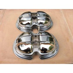 Valve covers round type CHROMED BMW /5 onwards