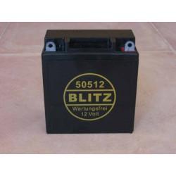 Gel battery BLITZ black 12V conversion BMW R 50 - 69S maint.free