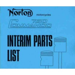 Spares catalogue NORTON Commando 750