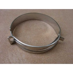 Air filter clamp, chrome plated stainless steel R26/27
