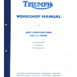Workshop Manual TRIUMPH 650 cc UNIT twins 1963 to 1970