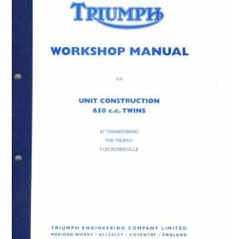 Werkstatthandbuch TRIUMPH 650 cc UNIT Twins 1963 - 1970