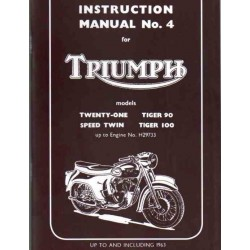 Instrction manual TRIUMPH Twenty One - Tiger 100 twins up to 196
