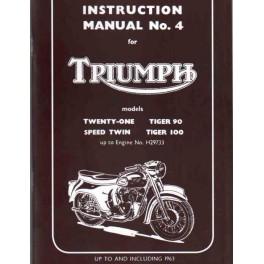 Fahrerhandbuch TRIUMPH Twenty One - Tiger 100 Twins bis 1963