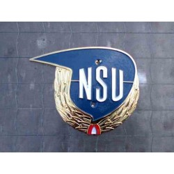 "Tank badge NSU Max ""laurel wreath"" RH"
