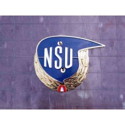 "Tank badge NSU Max ""laurel wreath"" LH"