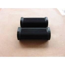 Pillion footrest rubbers NSU Max oval shape