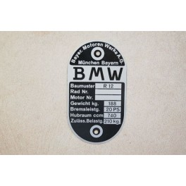 Placa identificacion BMW R 12