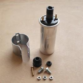 Zündspule 6V aussenliegend. Durchmesser 40 mm
