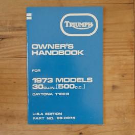 Fahrerhandbuch TRIUMPH T 100 R Daytona 1973 US