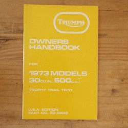 Drivers handbook TRIUMPH Trophy Trail TR5T 1973 US