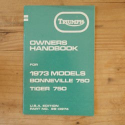 Drivers handbook TRIUMPH Bonneville 750 and Tiger 750 1973 US
