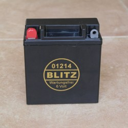 Gel battery BLITZ black 6V 11.5 Ah maintance free