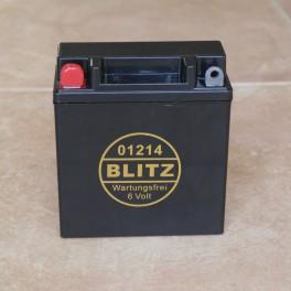 Batteria de Gel BLITZ negra 6 V 11.5Ah sin mantenimiento