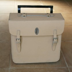 Leather pannier bag Wehrmacht style natural colour