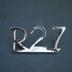 "Badge ""R 27"" rear mud guard"