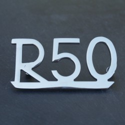 "Badge ""R 50"" rear mud guard"