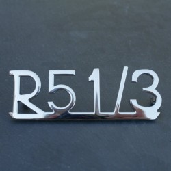 """Schriftzug """"R 51/3"""" Kotflügel"""