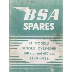 Spares catalogue BSA M models 1949 - 1958