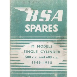 Spares catalogue BSA M models 1949 - 1958