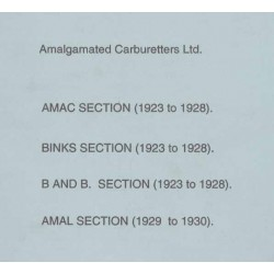 Spares catalogue AMAL carburetters 1923 - 1930