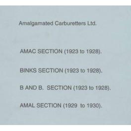 Spares catalogue AMAL carburetters 1923 - 1930