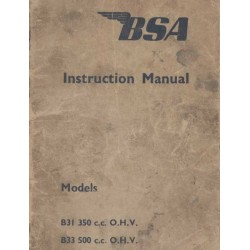 Instruction Manual BSA B 31 (350 cc. OHV) and B 31 (500 cc. OHV)