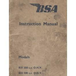 Instruction Manual BSA B 31 (350 cc. OHV) and B 31 (500 cc. OHV)