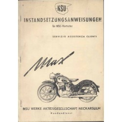 Workshop manual NSU MAX