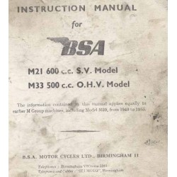 InstructionManual BSA M models