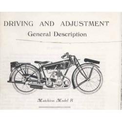 Libro de instrucciones MATCHLESS Model R 1925