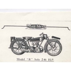 Spares catalogue MATCHLESS Model R 1925