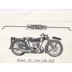 Catalogo de recambio MATCHLESS Model R 1925