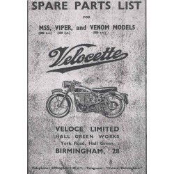 Spareparts catalogue for MSS, VIPER and VENOM Models 1956