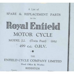 Spares catalogue Model J 2 twinport 500 cc 1950