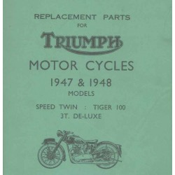 Spares catalogue TRIUMPH 1947 and 1948 models