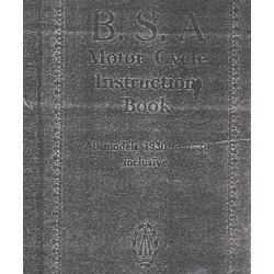 Instructions Book BSA models 1930 - 1936