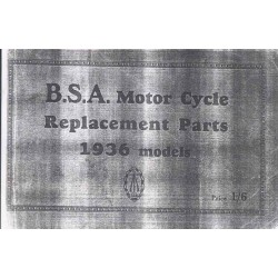 Spares catalogue BSA all models 1936
