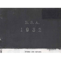 Spares catalogue BSA all models 1932